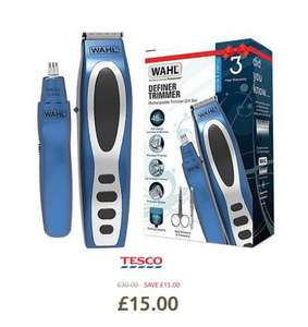 Wahl 5598-1517 Rechargeable Definer Trimmer Gift Set Half Price was £30 now £15 + 3 Years Warranty at Tesco in stores and online