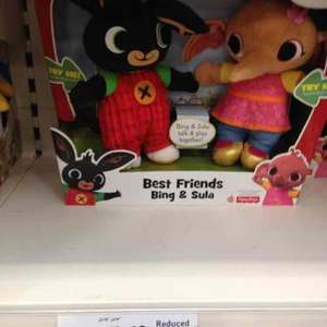 Bing & sula interactive soft dolls tesco instore - £12.48