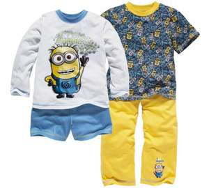 Despicable me Minions 2 pack pyjamas ages 3 - 10 was £14.99 now £7.49 half price @ Argos