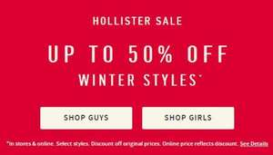 HOLLISTER SALE: UP TO 50% OFF