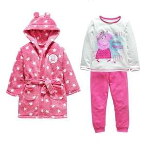 peppa pig pyjamas and dressing gown set £7.49 at Argos free c&c
