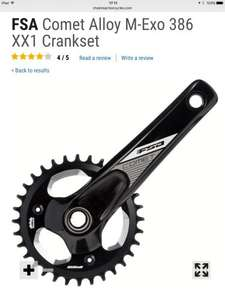 FSA comet alloy mega exo xx1 chainset / crankset for MtB mountain biking single 32t Chainring only £44.99 @ CRC chain reaction