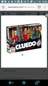 Big Bang Theory Cluedo £19.60 Tesco Click and Collect