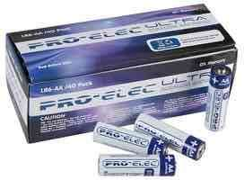 40 Pack Pro Elec Ultra Alkaline AA Batteries with Free delivery £6.01 @ CPC Farnell