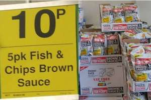 5x25g Fish'n'Chips (baked snack) 10p @ FarmFoods Southampton (Portwood)
