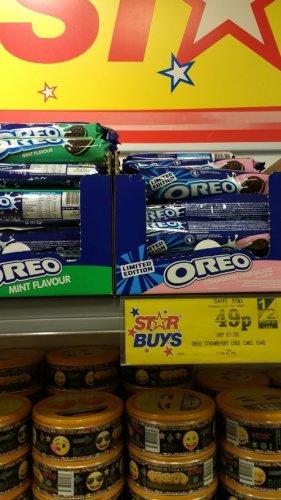 OREO Strawberry Cheesecake & Mint 0.49p instore @ Home Bargains