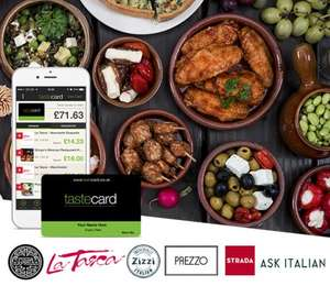 Taste Card - Free for one month