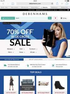 Debenhams Blue Cross Sale, Christmas Gifts up to 70% off online and instore