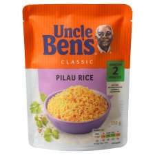 Uncle Bens express pilau rice / basmati / long grain / long classic with egg 250g for 74p down from £1.49 @ Tesco