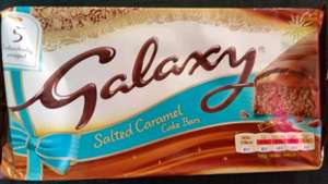 Galaxy Salted Caramel Cake Bars 25p in Tesco