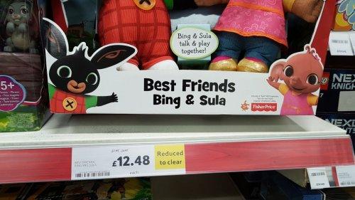 best friends bing and sula. Was £37.95. £12.48 Tesco instore (Carrickfergus)