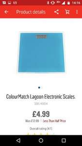 Argos colour match electronic bathroom scales - £4.99