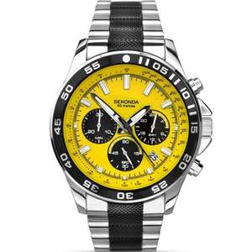 Sekonda Men's yellow dial chronograph watch 1023 £27 with free C&C @ Debenhams