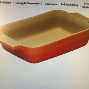 Le Creuset volcanic,cherise rectangle baking dish,18cm,26cm,32cm  from £4.13 - £8.06 at waitrose kitchen free delivery over £30