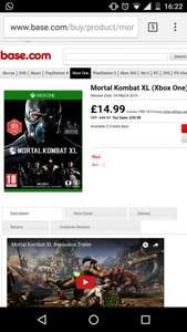 Mortal Kombat XL Xbox One £14.99 @ Base