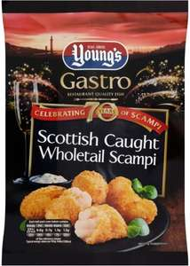 Youngs Gastro Wholetail Scottish Scampi (220g) was £4.00 now 2 Packs for £5.00 @ Asda