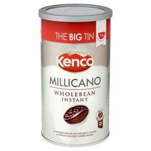 KENCO Millicano Bigger Tin Wholebean Instant Coffee 170g £1.71 @ Tesco
