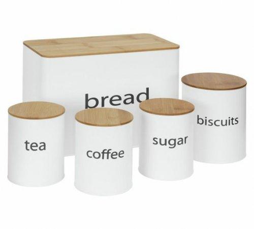 Storage Jar Set for tea coffee sugar bread bin biscuit tin £10 from Argos free c&c
