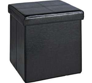 Faux leather ottoman cube storage seat from Argos £8 free c&c