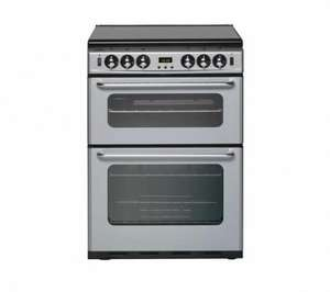 New World 600TSIDLM silver gas cooker from Currys free delivery