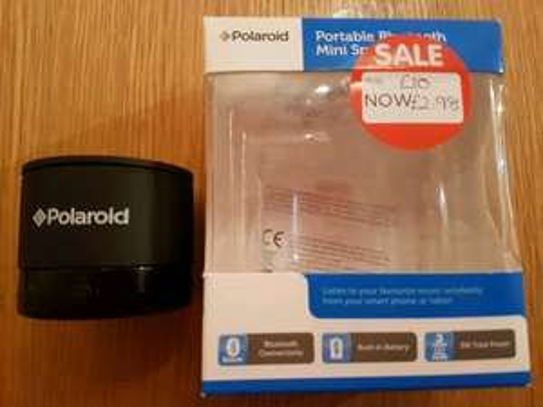 Polaroid portable bluetooth mini speaker £2.98 instore @ Asda Leeds