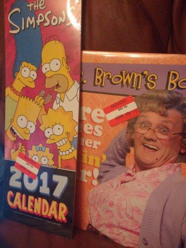 Mrs Brown Boys and The Simpsons Official Calendar 10p Asda Bordesdley Green