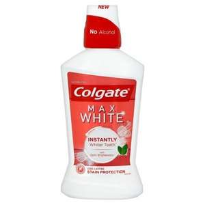 Colgate Max White One Mouthwash 500ml Was £3.99 Now £1.50 @ Superdrug