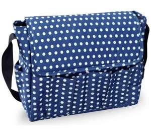 BabyStart Dark Blue Polka Dot Changing Bag £6.99 @ Argos (Free C&C)