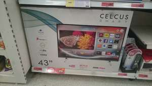 "Celcus Full HD LED Smart TV 43"" - £190 instore @ Sainsbury's (found Knight Bridge store)"