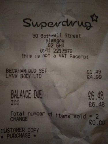 David Beckham Gift Sets £1.49 @ Superdrug