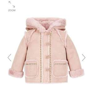 Monsoon Baby Susie Suedette Coat RRP £40 but only £10.80 with code RWDAW15 Free C&C size 6-12 Months