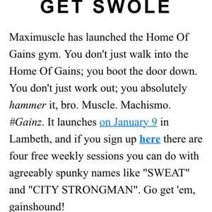 FREE 4 gym training sessions . Lambeth