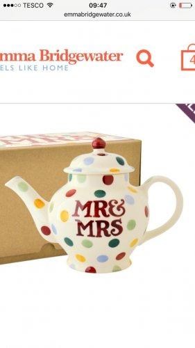 Emma Bridgewater Mr & Mrs Teapot £15 (£5 postage if order under £25)