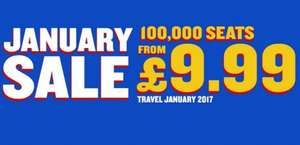 Ryanair's January sale. Flights from £4.99!!