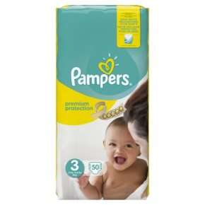 Waitrose Pampers New Baby Size 3 50 x 3 packs (150) = £10.20 with PYO