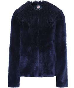 Shrimps Women's Fifi Faux Fur Jacket Navy (Amazon Fashion) @ WowDiscounts.