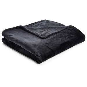 black supersoft large throw from wilko free c&c £6