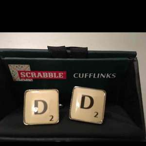 Scrabble Cufflinks 39p instore @ Home Bargains