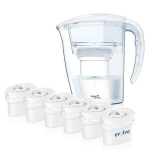 Years supply of filtered water & jug £22.34 Aqua Optima White Filter Jug ONE YEAR bundle Offer (inc 6x60day Evolve Filters) @ Amazon