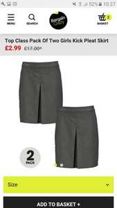School uniform twin packs starting from £2.99 @ Bargain Crazy