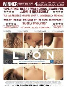 "ShowFilmFirst - ""Lion"" SFF Free movie on 11/01/17"