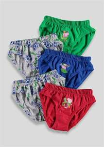 Kids George Pig briefs at Matalan online - £1.50