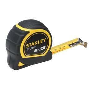 Stanley 8m Tape Measure £4.49 with code @ Robert Dyas