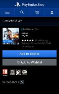 Battlefield 4™ on PS4 and PS3| £5.79 Official PlayStation®Store UK