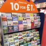 10 cards for £1.00 instore @ Card factory
