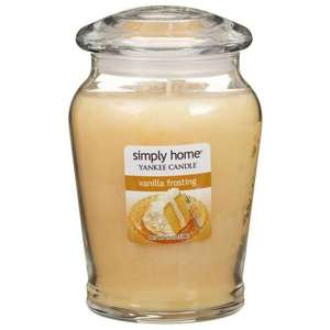 Large Simply Home Vanilla Frosting Yankee Candle £8.99 @ B&M