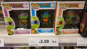 Funko Pop! Teenage Mutant Hero Turtles TMHT (All 4 turtles available)  Now Only £2.50 @ Tesco instore