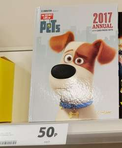 The Secret Life of Pets Annual 2017 Reduced to Only 50p at Tesco instore !  50% cheaper than Amazon :)