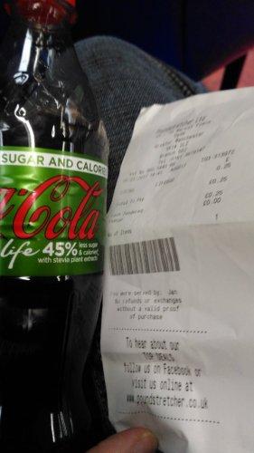 coke life 500ml 25p @ poundstretcher