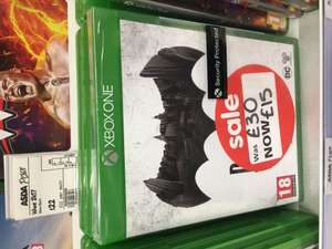 Batman: The Telltale Series Xbox One £15 ASDA Instore Romford